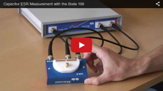 Capacitor ESR Measurement with the Bode 100