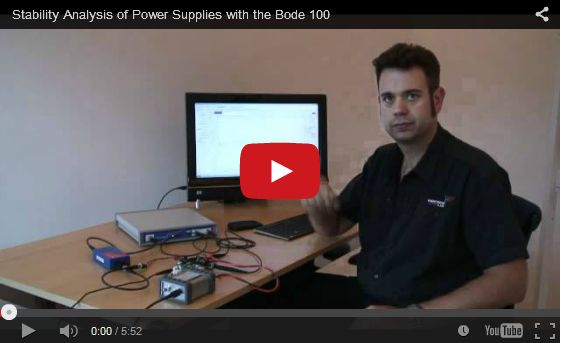Stability analysis of Power Supplies with the Bode 100